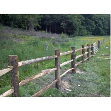 Rustic Cleft Chestnut Posts 2 and 3 rail