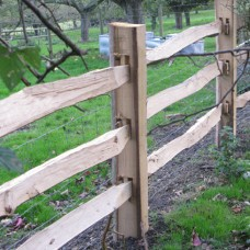 Softwood Cleft Posts 2 and 3 rail - 125mm x 75mm