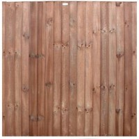 Closeboard Panel / Feather Edge Panel - Pre-treated Brown