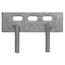 Concrete Gravel Board Fitting - 2 Pin Cleat
