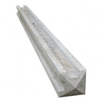 125mm x 125mm Corner Slotted Concrete Post