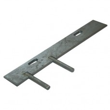 Concrete Gravel Board Fitting - Double 2 Pin Cleat