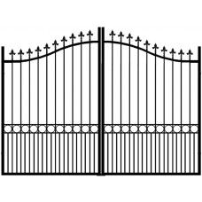 Essex Arched Top Gates w/ Fleur De Lys