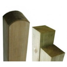 Picket Fence Posts - Round Top, Pointed Top and Flat Top
